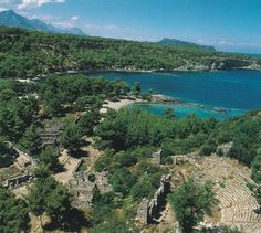 The ancient port of Phaselis, Lycia in Turkey. One of the many highlights on our Lycian gulet cruise.