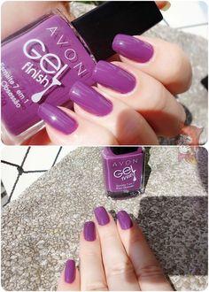Avon Nail Polish, Avon Nails, Gel Nails, Purple Manicure, Manicure And Pedicure, Basic Nails, Super Nails, Nail Pro, Nails Inspiration
