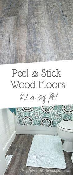 Simply Beautiful By Angela: Peel & Stick Vinyl Flooring (Wood Floors on a Budget!)