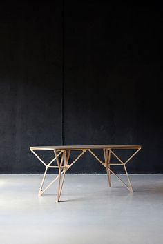 table with geometric legs