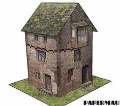 A Medieval House Paper Model - by Papermau - Download Next Week!