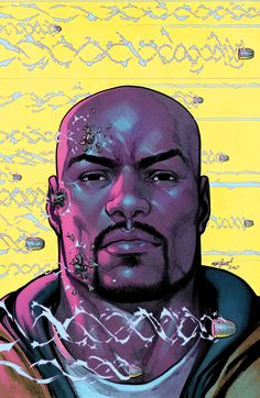 Luke Cage by David Marquez Comic Book Characters, Marvel Characters, Comic Character, Comic Books Art, Comic Art, Luke Cage Comics, Luke Cage Marvel, Marvel Comics, Marvel Heroes