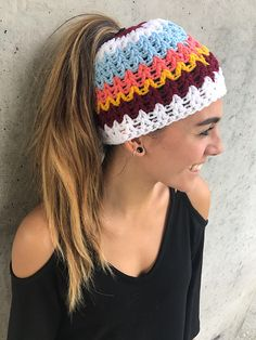 """This pattern is available for $4.95 USD  buy it now    Stay warm, look cool!  EZ breezy laid back sweater  Tommy Hilfiger: $450,-  You: 600- 700 gram of leftover yarn and $ 4,95 for the pattern:)  """"Free size""""  Extra included: matching ponytail/ messy bun hat"""