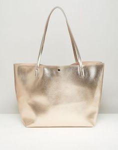 ASOS Metallic Bonded Shopper Bag