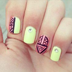 134 Nageldesign Ideen - Pastelltöne & geometrische Muster sind im Trend