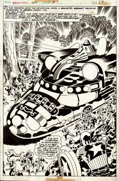 Captain America Annual #3 p 23 SPLASH (1976) Comic Art For Sale By Artist Jack Kirby at Romitaman.com