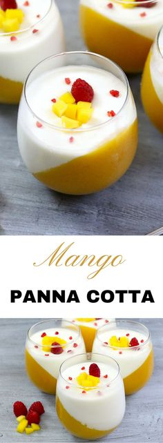 Panna Cotta is an Italian dessert of flavored, molded cream or milk. Here we pair panna cotta with mango for an amazing color contrast that never fails to impress. The creamy panna cotta flavor also contrasts nicely with the tartness of the mango for an amazing dessert experience.