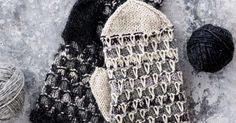 Ota käyttöön toisiinsa sointuvat jämälangat ja neulo eripariset lapaset sävy sävyyn. Mittens, Gloves, Crochet Hats, Socks, Sewing, Knitting, Weddings, Ideas, Tricot