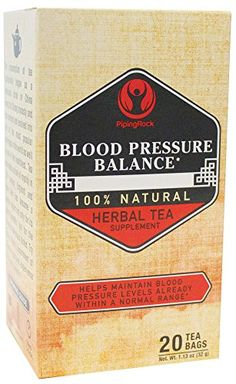 Piping Rock Blood Pressure Balance 100 Natural Herbal Tea 20 Bags -- Click image for more details.-It is an affiliate link to Amazon. #LooseLeafTea
