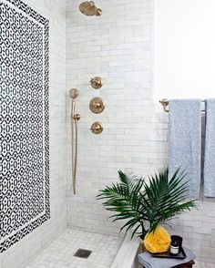 "4,866 Likes, 43 Comments - Lonny Magazine (@lonnymag) on Instagram: ""Can every bathroom agree to have a tile wall accent??? // Design by @younghuh // …"""