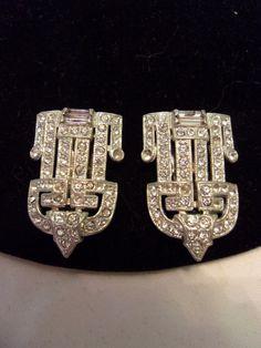 CORO Vintage 1930S Art DECO Diamante Rhinestone by AnnesGlitterBug