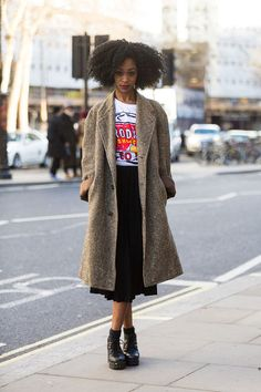 fashion, street style, black girl, winter outfit, black womens inspiration…