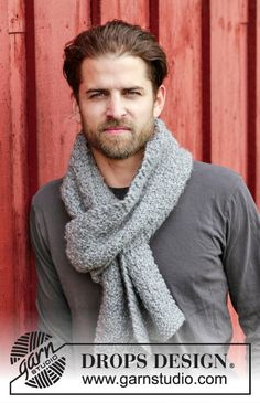 Mens Wool Scarf - Mens Grey Scarf - Mens Neck Warmer - Men's Hand Knit Thick Chunky New Wool Scarf (Made to Order) by knitix on Etsy $44.95