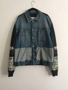 d7fbd4d1e06  last drop  Indigo knit denim jacket