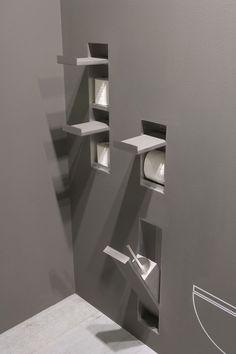 Einbau-Toilettenpapierhalter / aus Edelstahl SESAMO by Arkimera ANTONIO LUPI