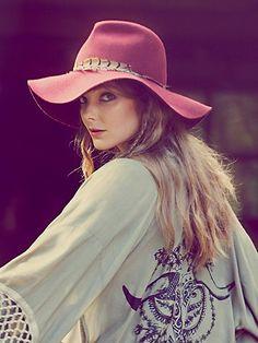 Free People Safari Feather Hat