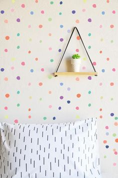 The Lovely Wall Co. is the place to find one of a kind removable wall decals and removable wall paper. Wall Stickers Room, Girl Wall Decals, Triangle Wall, Removable Wall Decals, Textured Walls, Diy Wall, Wall Art, Girl Room, Interior Design Living Room