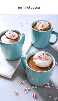 You may not always have cocoa powder on hand, but you also have a bag of chocolate chips right? Turn that bag into incredibly creamy hot chocolate, with a hint of mint. You can make it a day ahead of your festive celebration, then warm it up and finish with whipped cream and peppermint candies.
