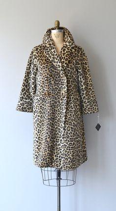 Bancroft coat vintage 60s fur coat 1960s leopard by DearGolden