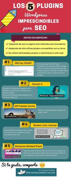 Hola: Una infografía con 5 plugins de WordPress Imprescindibles para SEO. Vía Un saludo
