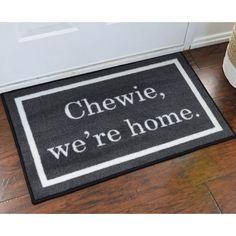 Chewie We're Home Starwars Novelty Welcome Mat