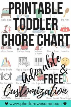 Free Printable Toddler Chore Chart with FREE Personalization, Toddler Routine Chart, Toddler Chart, Chore Chart For Toddlers, Behavior Chart Toddler, Daily Routine Chart, Behaviour Chart, Charts For Kids, Toddler Chore Charts, Children Chore Chart