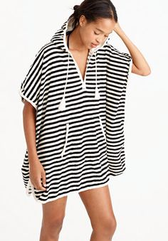 Gear Up for Summer: J.Crew Hooded Terry Poncho Dress | CoastalLiving.com