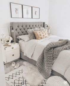40 Chic Bedroom Decorating Ideas for Teen Girls Teen Room Decor Ideas Bedroom Ch. - 40 Chic Bedroom Decorating Ideas for Teen Girls Teen Room Decor Ideas Bedroom Chic decorating Girls - Farmhouse Bedroom Decor, Farmhouse Furniture, Home Decor Bedroom, Farmhouse Design, Rustic Farmhouse, Bedroom Ideas Grey, Trendy Bedroom, Bedroom Bed, White Bedroom Furniture