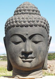 "View the PREORDER Large Buddha Head Fountain 50"" at Hindu Gods"