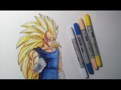 Drawing Vegeta SSJ3 - Super Saiyan 3 - YouTube