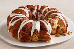 If you like our Peanut Butter Monkey Bread, you've got to try our Peanut Butter-Banana Monkey Bread!  Bananas take this fresh-baked monkey bread recipe one step further. Monkey Bread, Sausage, Bread Recipes, Pumpkin, Meat, Food, Kale Flatbread Recipes, Gourd, Eten
