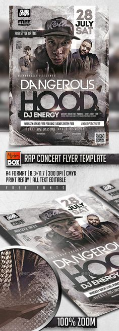 Rap Concert Flyer Template PSD. Download here: http://graphicriver.net/item/rap-concert-flyer-template/16191905?ref=ksioks