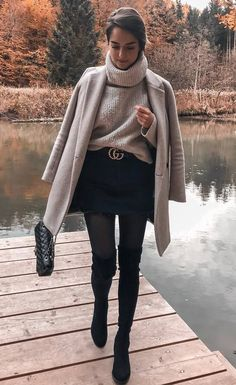 30 chic and warm winter outfits - winter fashion 2019 30 chic . - 30 chic and warm winter outfits – winter fashion 2019 30 chic and warm winter ou - Winter Outfits Women, Winter Fashion Outfits, Look Fashion, Autumn Winter Fashion, Womens Fashion, Autumn Casual, Fall Fashion, Winter Style, Autumn Outfits