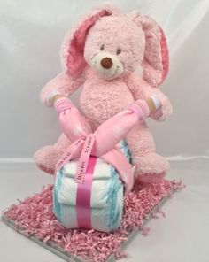 Roze motor konijn
