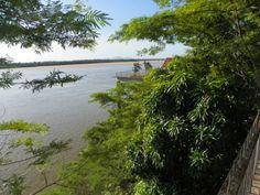 Trecho do rio Branco visto da Orla Taumanan, Boa Vista, RR