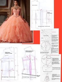 New womens clothing patterns easy 58 ideasideas dress pattern a line modaNo photo description available. Corset Sewing Pattern, Gown Pattern, Skirt Patterns Sewing, Clothing Patterns, Fashion Sewing, Diy Fashion, Ideias Fashion, Fashion Dresses, Fashion 2020