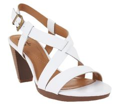 8d07ad215a1 Clarks Leather Multi Strap Sandals - Jaelyn Fog