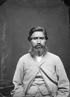 Maori man from Hawkes Bay, taken, probably in the 1870s, by Samuel Carnell of Napier. #Maori