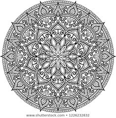 Mandala pattern black and white good mood Adult Coloring Book Pages, Printable Adult Coloring Pages, Mandala Coloring Pages, Coloring Pages To Print, Colouring Pages, Coloring Books, Mandala Art, Mandala Drawing, Mandala Pattern