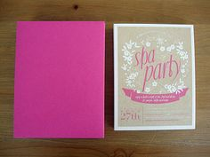 FREE printable SPA PARTY invitations and papers.. Libbie Grove Design: Free Printables
