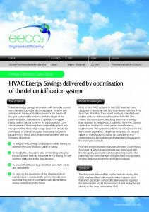 Case Study – HVAC Energy Savings delivered by optimisation of the dehumidification system