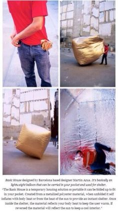 I wonder how expensive the material is -- inexpensive enough to be practical for homeless individuals?