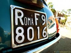 #Blue #Fiat from www.travel-photographs.net! #Car #Italy #LicensePlate #Oldtimer