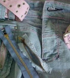 Ingenious and simple way to replace a broken zipper on a pair of jeans via sewing.about.com
