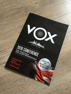 VOX 2016 annual conference for Voiceovers and Audio professionals and the all new VOX Awards!