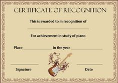 Certificate of Recognition Templates: Best Ideas and Free Samples - Demplates Certificate Of Recognition Template, Certificate Templates, Pink Heart Background, Certificate Of Appreciation, Free Samples, Bulletin Boards, Are You The One, Good Things, Music