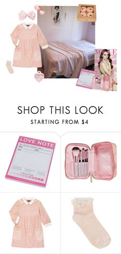 """""""Small Pink house bedroom"""" by thisrandomusername ❤ liked on Polyvore featuring J.Crew, Too Faced Cosmetics, Etude House, Oasis, bedroom, Lana, del, rey, suburban and coquette"""