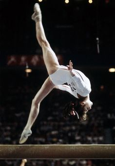 Nadia Comaneci at the 1976 Olympics. I watched this movie over and over. I still have it!
