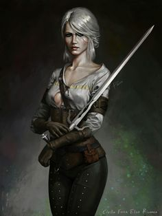 Cirilla Fiona Elen Riannon – The Witcher 3 fan art by Emanuel Mendez The Witcher Geralt, Witcher Art, Dark Fantasy Art, Fantasy Artwork, Power Girl, Character Portraits, Character Art, Fantasy Characters, Female Characters