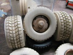 Wooden Toy Wheels, Wooden Truck, Wooden Wheel, Table Saw Sled, Table Set Up, Make Blog, Wood Toys, New Tricks, Wood Blocks